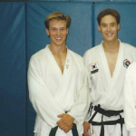 Me with my instructor and friend Kevin Haugh