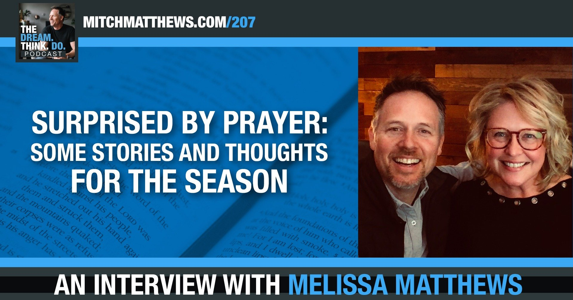 Surprised by Prayer: Some Stories and Thoughts for the Season, with Melissa Matthews