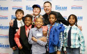 Mitch Matthews with Kids