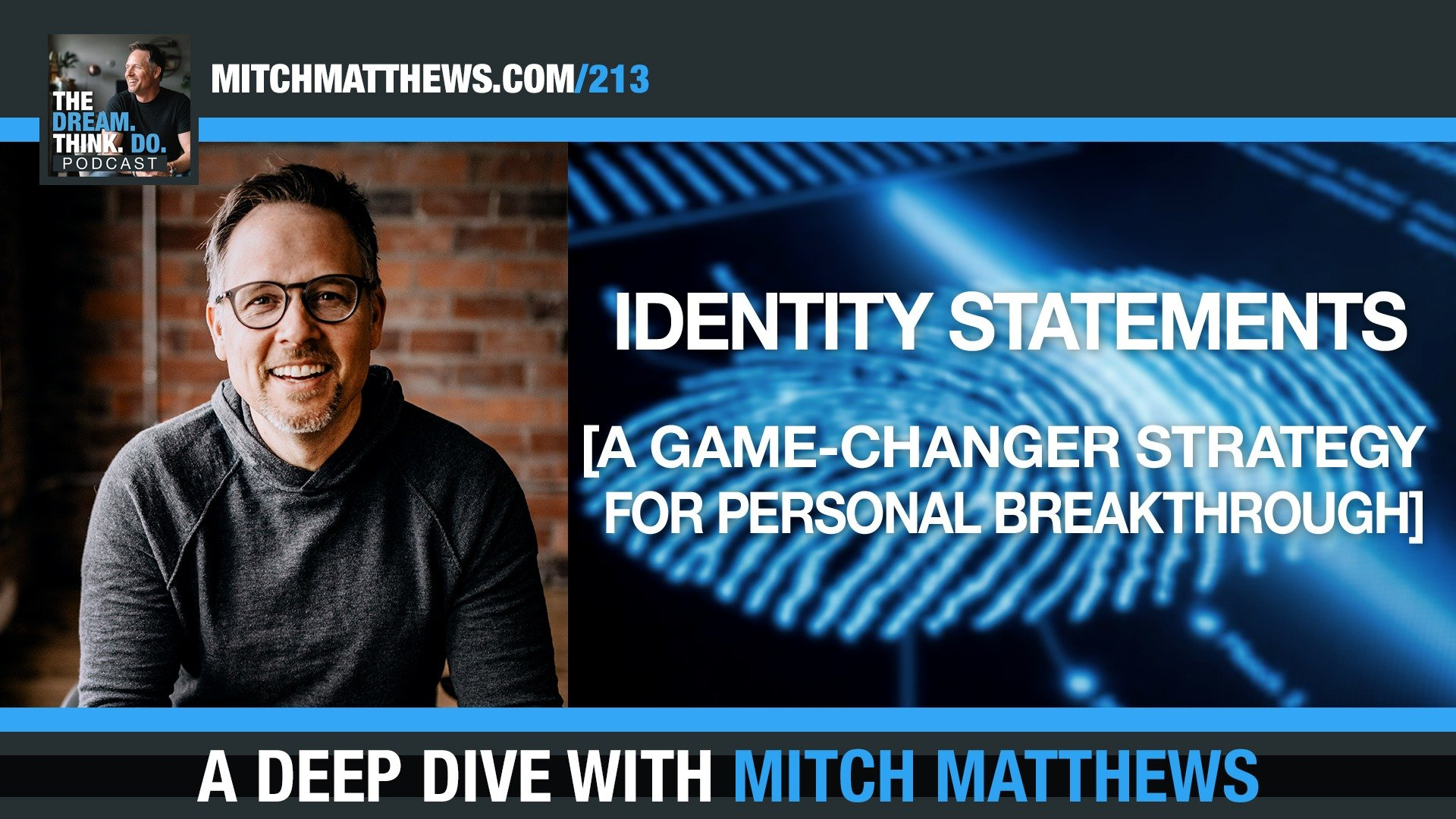 Intentional Identity Statements (A Gamechanger Strategy for Personal Breakthrough!) with Mitch Matthews